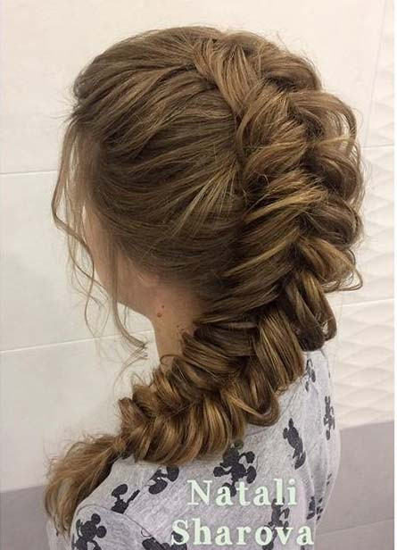 Lose Fishtail Braid mit Volumen