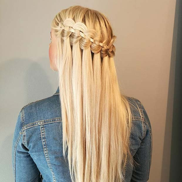 Wasserfall Braid Look for Summer