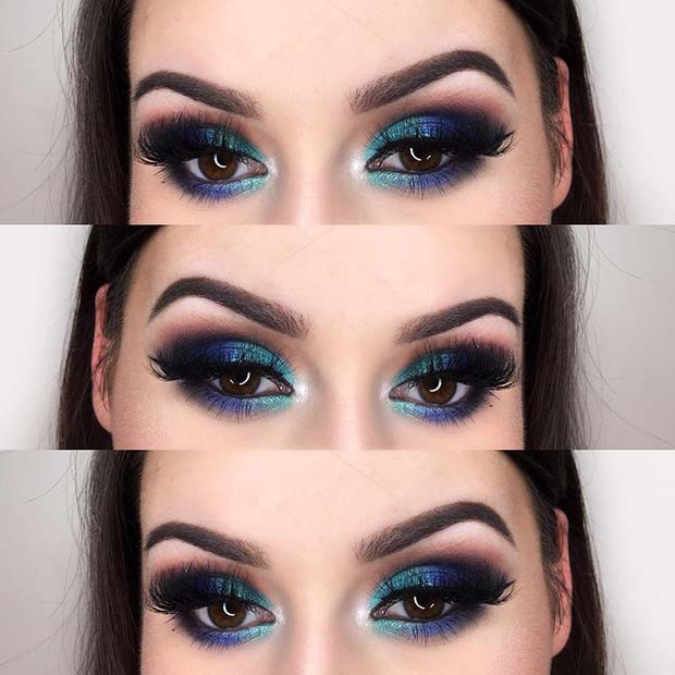 Multi Tone Blue Smokey Eye