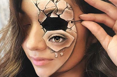 23 Trippy Illusion Makeup Sucht nach Halloween