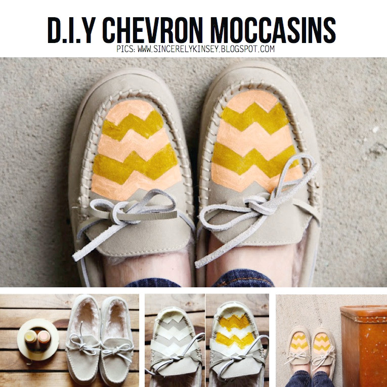 Mocasines Chevron DIY