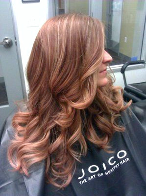 Rose Gold Haar Highlights