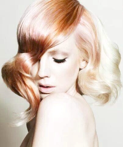 Stilvolles Rose Gold-Haar