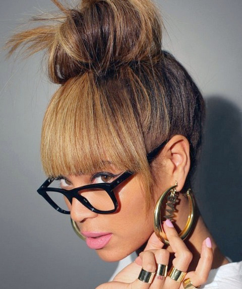 Peinados Beyonce: Lovely Hair Knot