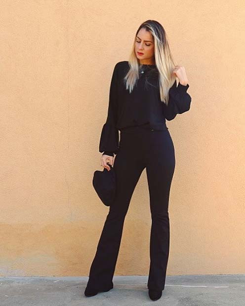 Chic All Black NYE Outfit