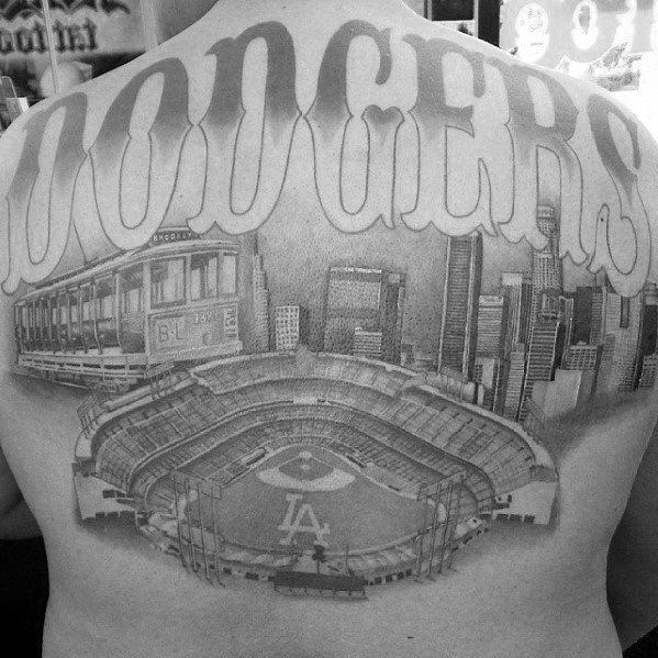 Zurück Los Angeles Skyline Guys Tattoo Ideen