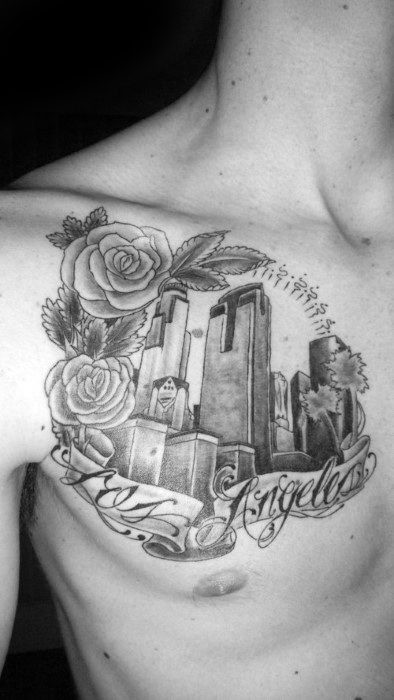 Gentleman With Chest Los Angeles - Skyline-Tattoo