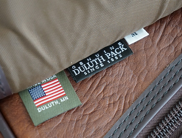 Duluth Pack Bison Leather Sportsman Duffel