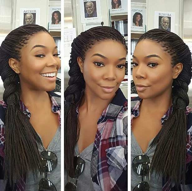 Micro Braids in ein Side Braid