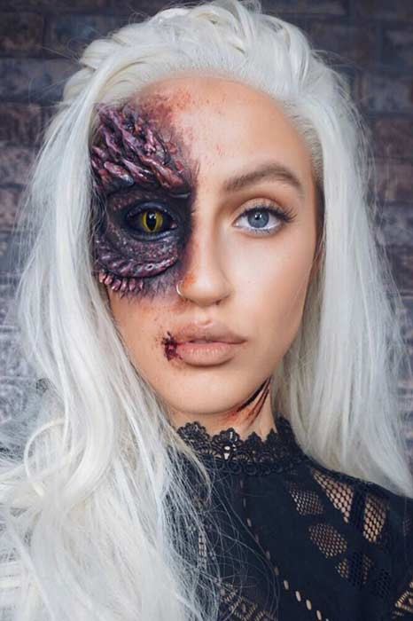 Daenerys Targaryen Halloween Make-up Idee