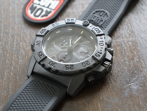 45mm unidirektionale drehbare Lünette Luminox Navy Seal Chronograph Herrenuhr