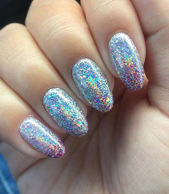 Holografisches Gel-Nageldesign