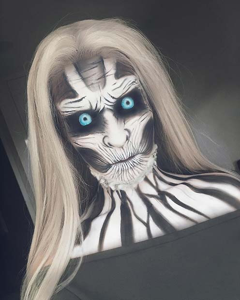 Game of Thrones White Walker Makeup für einzigartige Halloween Makeup-Ideen zum Ausprobieren
