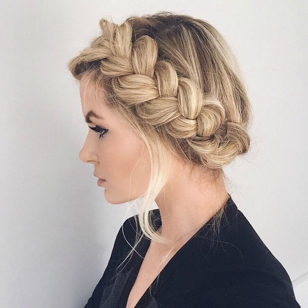 Big French Braid Updo