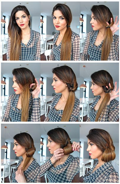 Elegantes Side Bun Updo-Tutorial