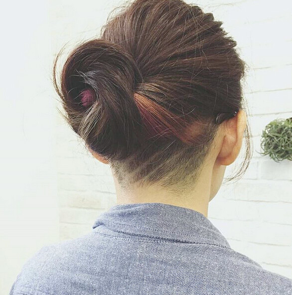 Undercut-Frisur für Twisted Updo