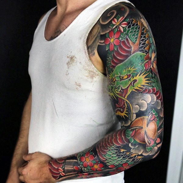 Wunderbare Dragon Tattoo Mens Full Sleeves