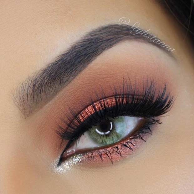 Bronzey Smokey Eye Look for Summer