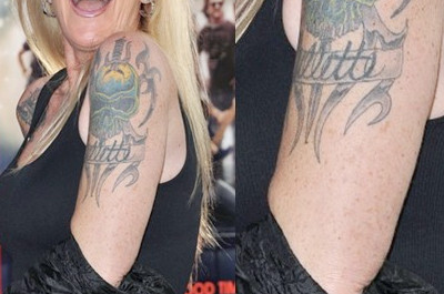 Lita Fords Tattoos - Schädel Tattoo am Oberarm