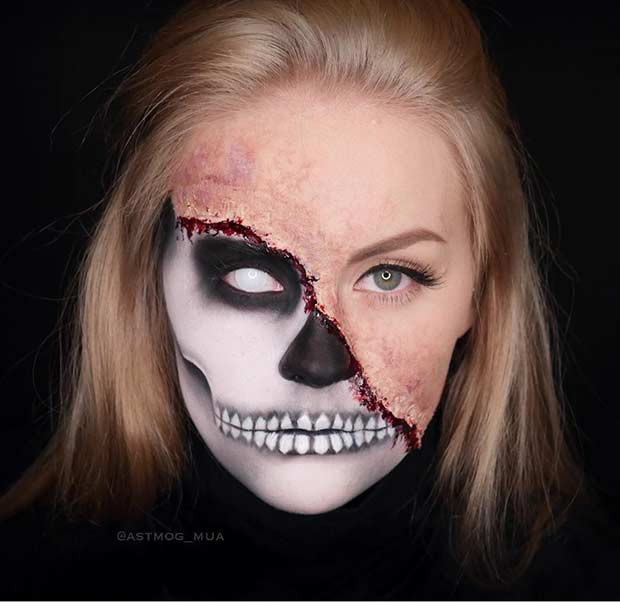 23 Cooles Skelett Makeup Ideen Für Halloween Frisurenx Site