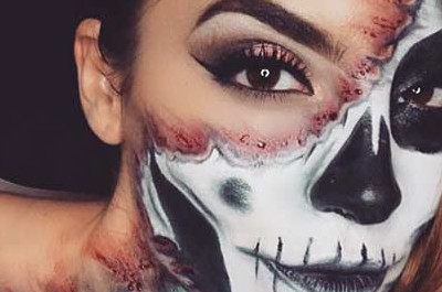 23 Cooles Skelett-Makeup Ideen für Halloween