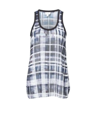 Witchery Check Racer-Back Tank, ajuste holgado