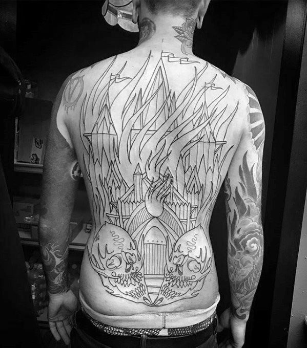 Burning Church Tattoos Jungs