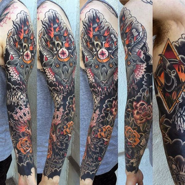Gentlemens Burning Church Tattoo-Ideen