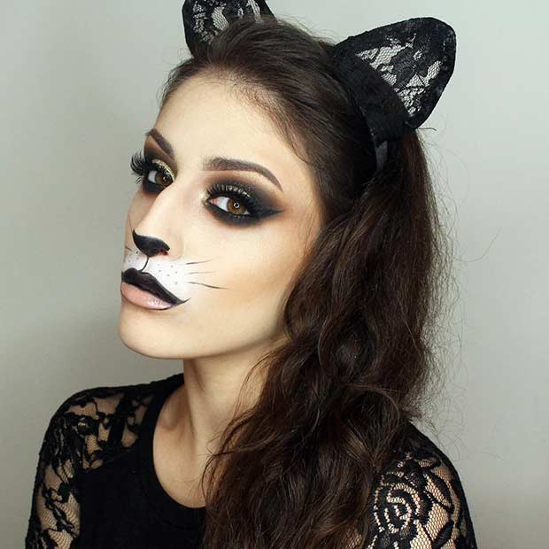Glam DIY Katze Halloween Make-up