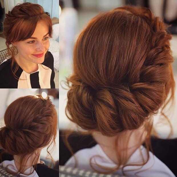Romantische Twisted Prom Updo