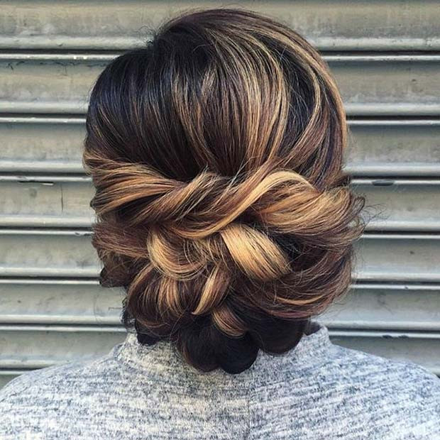 Eleganter Twisted Updo