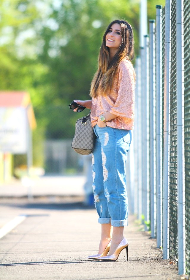 Stylische Outfit-Idee mit Jeans