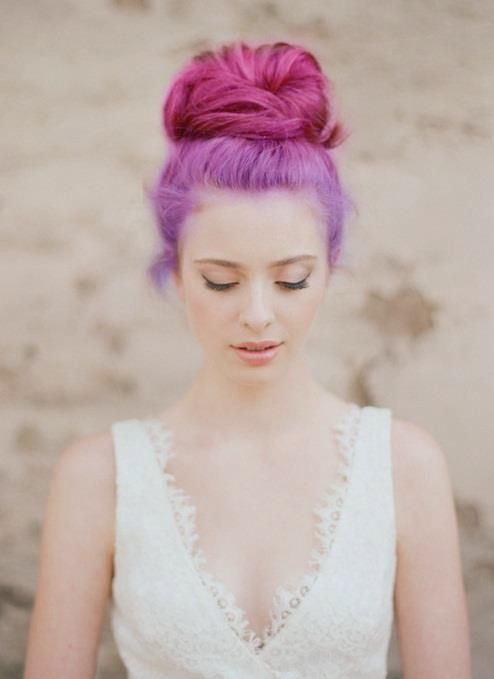 Ombre Purple Hairstyle para 2014