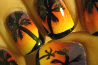 16 Sunset Nail Arts que no te perderás