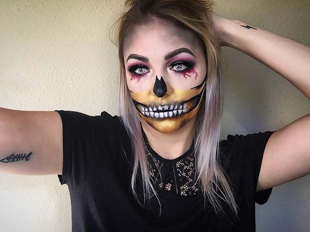 23 Make Up Ideen Für Das Skelett Für Halloween Frisurenx Site