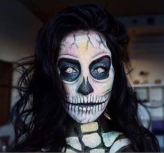 Spooky Skeleton Makeup für Skeleton Makeup Ideen für Halloween