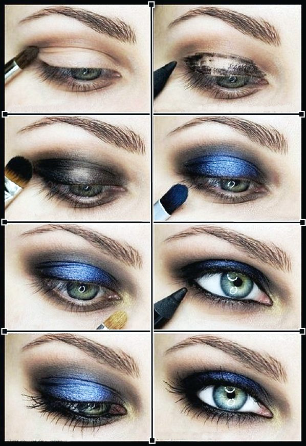 Smoky Blue Eye Makeup Tutorials