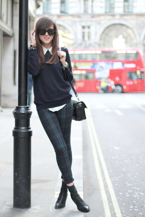 pantalon negro-top-y-tartan via