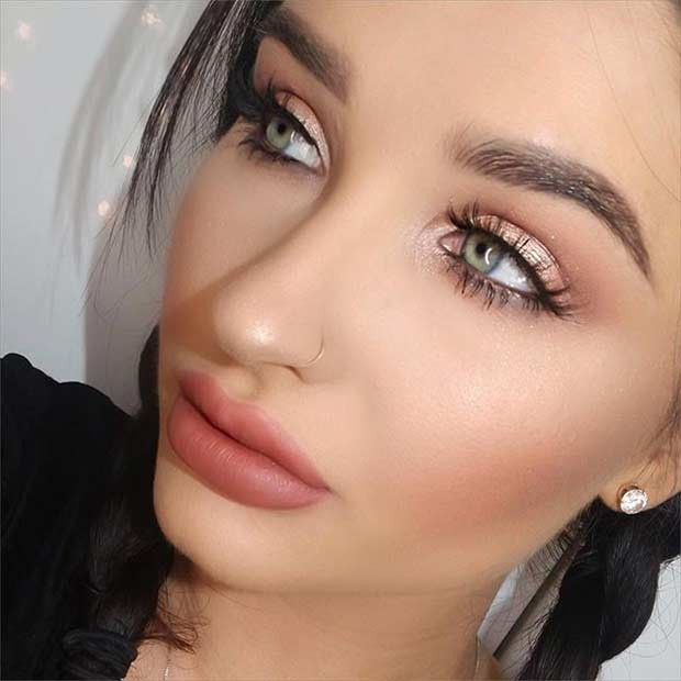 Gold jeden Tag Makeup Look
