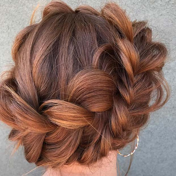 Lose Halo Braid Updo