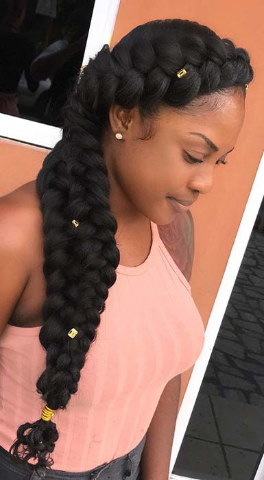 Chunky Butterfly Braid Frisur