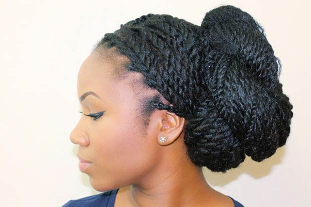 Senegalese Twists Updo