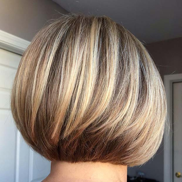 Warme blonde Bob-Frisur