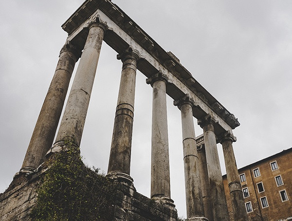 Rom Italien Temple Of Saturn Forum Romanum