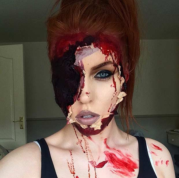 Scary Halloween Makeup Look