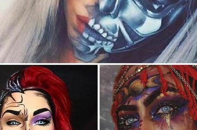 25 Verblüffendes Make-up Ideen für Halloween