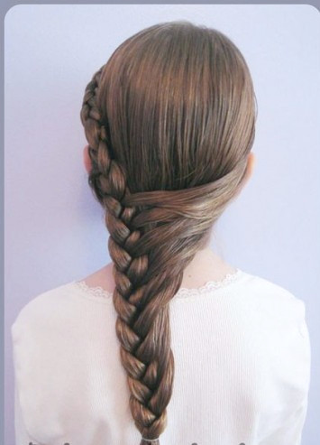 Braid Pony Hairstyle para niñas a través de