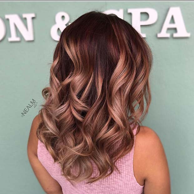 Rose Gold Winterhaarfarbe