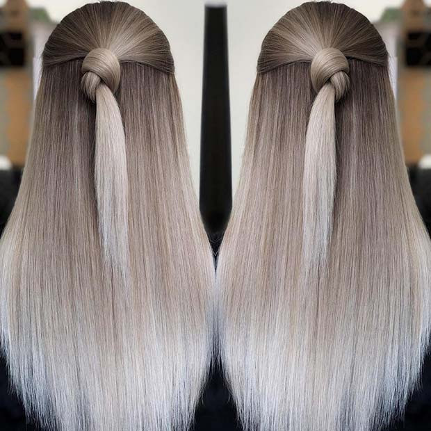 Coole blonde Blend-Haar-Idee für den Winter
