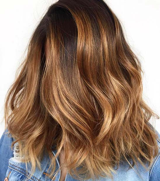 Amber Winter Hair Color Idee